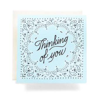 """Bandana """"Thinking of You"""" Greeting Card"""