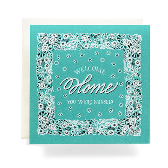 "Bandana ""Welcome Home"" Greeting Card"