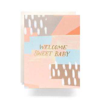 Abstract Baby Greeting Card