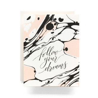 Marble Follow Your Dreams Greeting Card