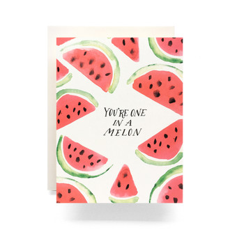 One in Melon Greeting Card