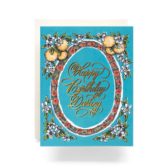 Orange Blossom Birthday Greeting Card