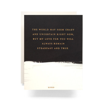 Brushed Steadfast Greeting Card