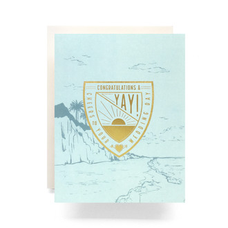 Crest Wedding Wishes Greeting Card