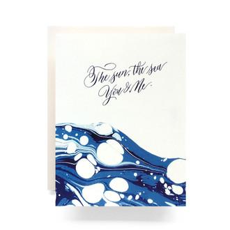 Marble Ocean Greeting Card