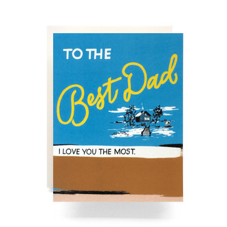 Retro Dad Greeting Card