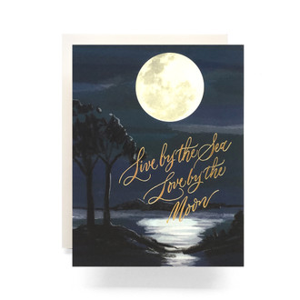 Sea and Moon Greeting Card