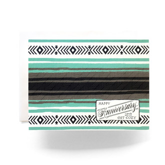 Camp Blanket Anniversary Greeting Card