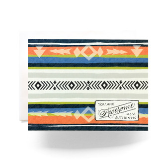 Camp Blanket Awesome Greeting Card