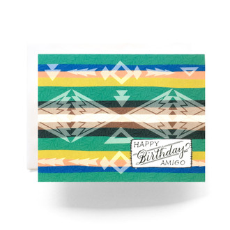 Camp Blanket Birthday Amigo Greeting Card
