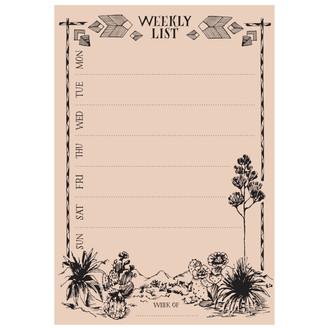 Cactus Weekly List Pad