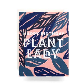 Plant Lady Birthday Greeting Card