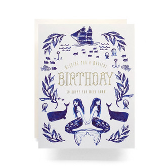 Mermaid Birthday Greeting Card