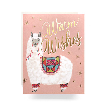 Alpaca Warm Wishes Greeting Card