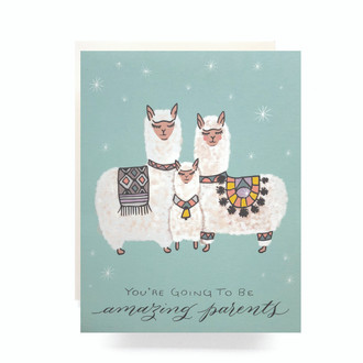 Alpaca Baby Greeting Card