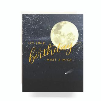 Shooting Star Birthday Greeting Card