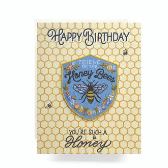 Patch Greeting Card | Honeybee Birthday