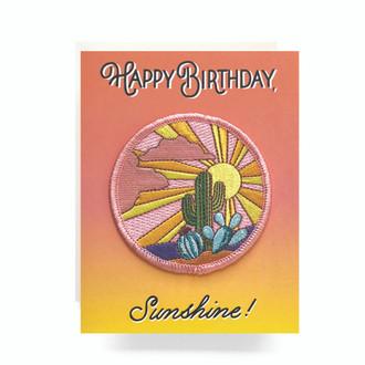 Patch Greeting Card | Cactus Sunset Birthday