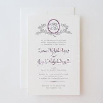 """Savannah"" Letterpress Invitation"