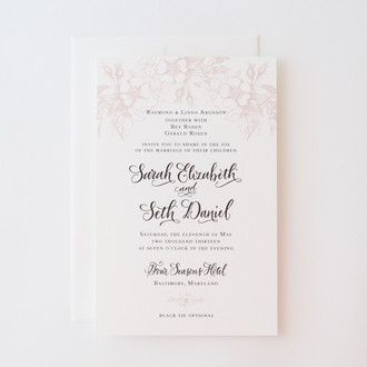 """Garden Bouquet"" Letterpress Invitation"