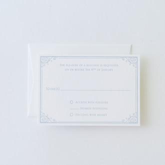 """""""Savannah"""" Letterpress Reply Card"""