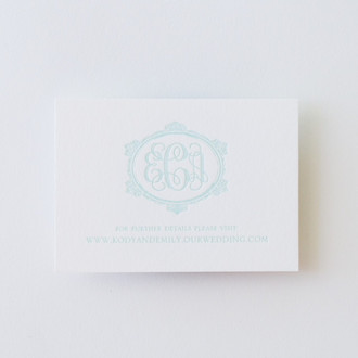"""Savannah"" Letterpress Website Card"