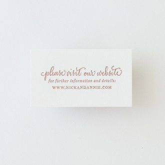 """Calligraphy Accent"" Letterpress Website Card"