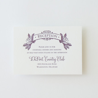 """Savannah"" Letterpress Reception Card"