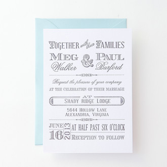 """Old West"" Letterpress Invitation"