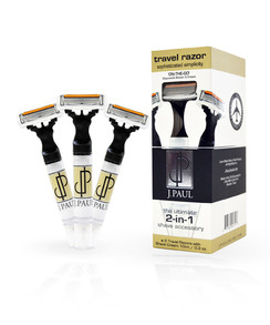 J. Paul Travel Razor - All-in-One Razor and Shave Cream