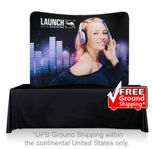 EZ Tube Display 8ft Curved Tabletop Single Sided (Frame & Graphic)
