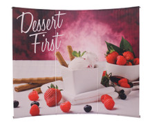 3 Piece L Banner Curved Graphic Package w/ Case