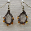 Amber Crystal Mesh Teardrop Earrings