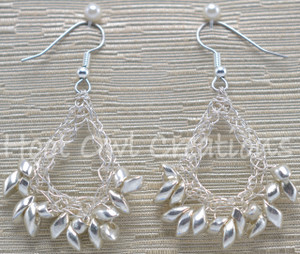 Silver Magatama Teardrop Earrings