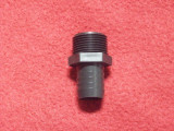 FITTING, BLK 3/4 NPT X 3/4HSBRB STR