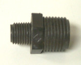 Fitting, Black Reducer Nipple 1/2NPT x 1/4NPT
