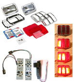 MP-0005-KIT 64-66 Sequential LED Tail Lights - Convert your dim incandescent bulbs to brighter LEDs Complete Kit with LED modules, housings, bezels, and lenses.