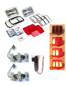 MP-0005-UB-KIT 64-66 tail light rebuild kit with UB LED sequential modules - Convert your dim incandescent bulbs to brighter LEDs Complete Kit with LED modules, housings, bezels, and lenses.