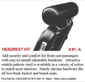 MP-HR-WHITE Wimbledon White 64-66 Rotunda Headrest
