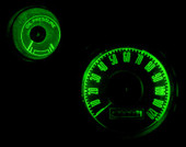 Model MP-6768-LED-GA-GREEN -- NEW from Mustang Project LED lamps for your gauges. Finally see your gauges at night with cool running lifetime LEDs 3-4X brighter than the old incandescent lamps!
