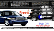Crown Victoria Feniex FUSION Interior Visor Single Color Light Bar