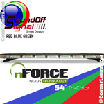 "nFORCE® TriCOLOR 54"" lightbar RED - BLUE - GREEN"