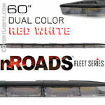 "nROADS Fleet Series DUAL COLOR FLOOD RED/White 60"" Lightbar"