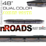 "nROADS Fleet Series Dual Color Amber/White 48"" Lightbar"