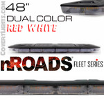 "nROADS Fleet Series Dual Color Red/White 48"" Lightbar"
