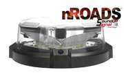 nROADS LOW Dome Beacon Mag Mount Class 1 Dual Color Amber/White