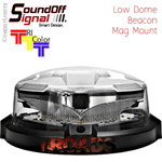 nROADS LOW Dome Beacon TRI-Color  Mag Mount hardwire