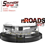 nROADS low Dome Beacon Clear Lens Mag Mount 6LED Class1