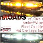 nROADS 24 Lightbar Amber-White FLOOD Class 1