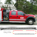 "Feniex FUSION 60"" Light Bar RED blank rear"